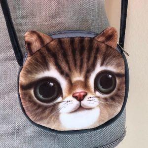Kitty Cat purse Velvet soft NWOT